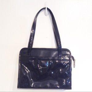 Handbags - 🌟5 for $25🌟 Black Faux Patent Leather Purse